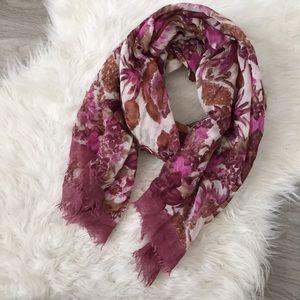 Bindya New York Nordstrom Scarf Wool Silk floral